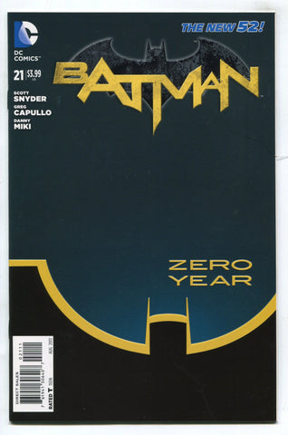 Batman #21 F/VF 1st Print DC New 52 1st Duke Thomas New Robin Zero Year Snyder