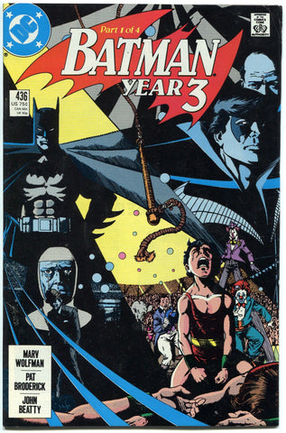 Batman #436 Year Three 1st Tim Drake Robin Fine condition DC Comics 1989 - redrum comics