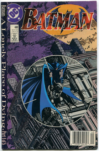 Batman #440 A Lonely Place of Dying Part One Two Face Nightwing 1989 VF - redrum comics