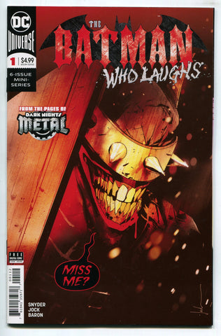 Batman Who Laughs # 1 NM Jock Cover DC Comics 2019 Dark Knights Metal