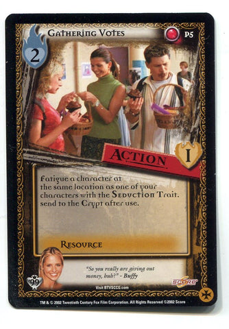 Buffy the Vampire Slayer CCG TCG Gathering Votes Promo Card P5 BTVS