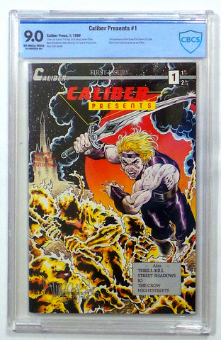 Caliber Presents #1 1st Crow James O'Barr NM CBCS 9.0 SIGNED Tim Vigil NOT CGC