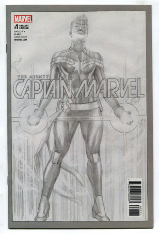 Mighty Captain Marvel #1 NM Alex Ross 1 Per Store Sketch Variant Ms Marvel