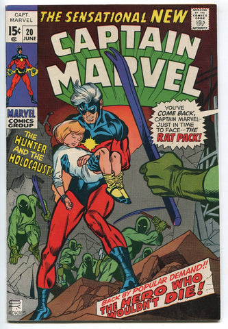 Captain Marvel #20 Silver Age Roy Thomas Gil Kane VF Glossy Cover High Grade