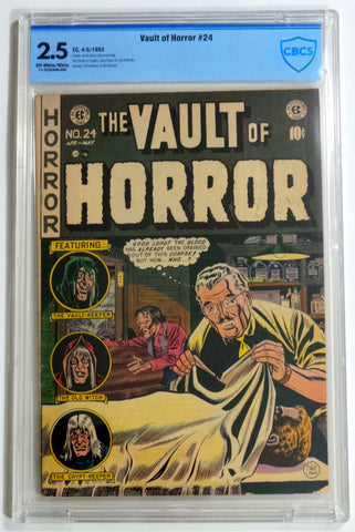 EC Comics Vault of Horror #24 1952 Pre-Code Horror CBCS 2.5 Good+ NOT CGC