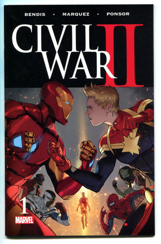 CIVIL WAR II #1 Iron Man VS Ms. Marvel Carol Danvers Bendis NM Marvel Comics