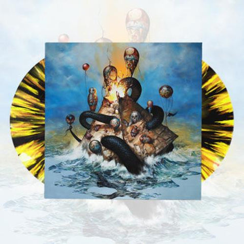 Circa Survive Descensus Yellow Black Splatter Double Vinyl LP Juturna New Sealed