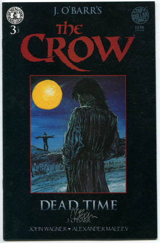 The Crow Dead Time #3 signed by James O'Barr 1996 Kitchen Sink NM - redrum comics