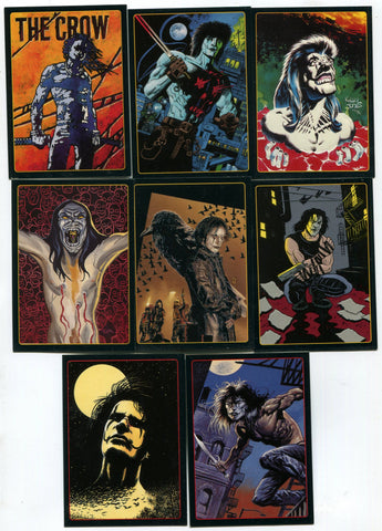 The Crow City of Angels Embossed Chase Insert Card lot of 8 Tim Bradstreet