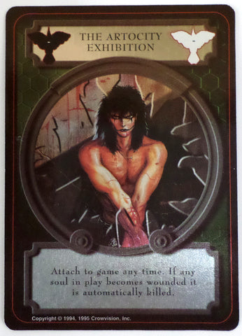 The Crow Trading Card Game Ultra Rare ATROCITY EXHIBITION Foil James O'Barr TCG - redrum comics