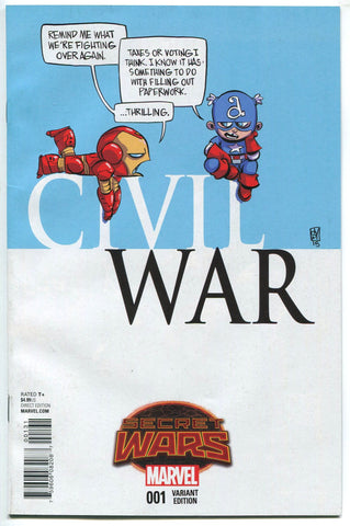 Civil War #1 Marvel Comics 2015 Skottie Young Baby Variant Cover VF Secret Wars - redrum comics