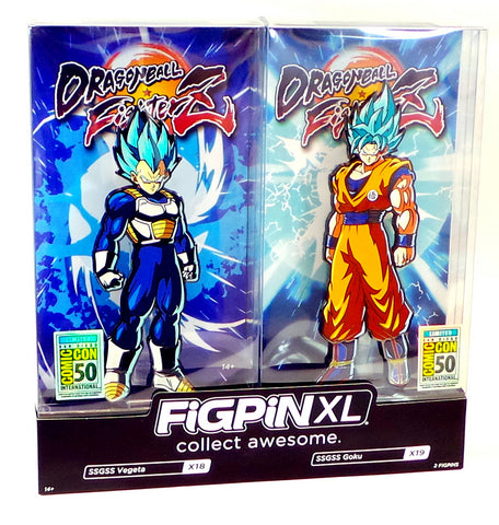 FiGPiN XL Dragon Ball FighterZ SSGSS Vegeta & Goku 2-pack SDCC 2019 Exclusive