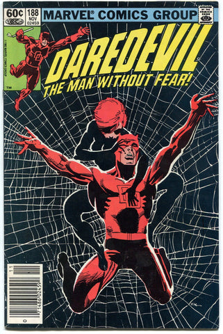 Daredevil #188 Marvel Comics 1982 Fine Black Widow Frank MIller Netflix TV - redrum comics