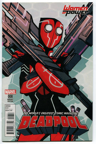 Deadpool #8 Women of Power Deadpool 2099 Annie Wu Variant Cover NM