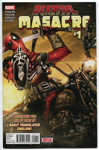 Marvel Comics Deadpool Masacre #1 2016 NM 1st Printing