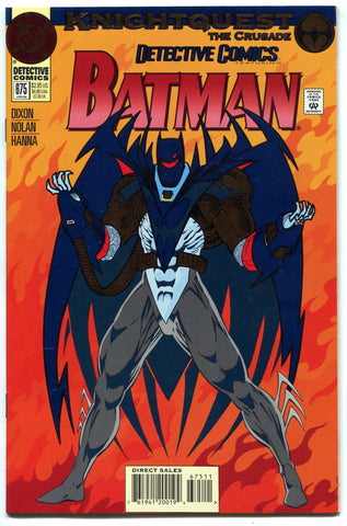 DC Detective Comics Batman #675 NM KnightQuest The Crusade Metallic/Embossed - redrum comics