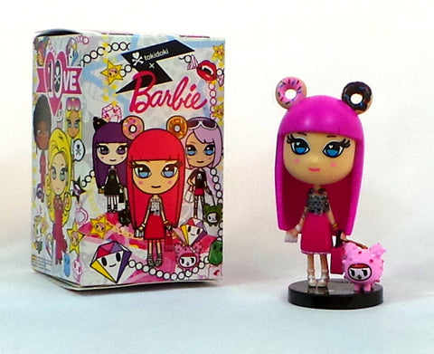 "Tokidoki x Barbie Pink Hair w/Donuts 10th Anniversary Blind Box 4"" Vinyl Figure"