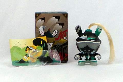 "Kidrobot 3"" Dunny Art of War 2014 Patricio Oliver Green Knight Figure Complete"