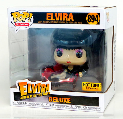 Funko Pop Elvira Mistress of the Dark Deluxe Hot Topic Exclusive on Couch Figure