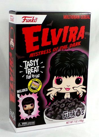 Funko Pop FunkO's Cereal Elvira Mistress of the Dark Hot Topic Exclusive Sealed - redrum comics