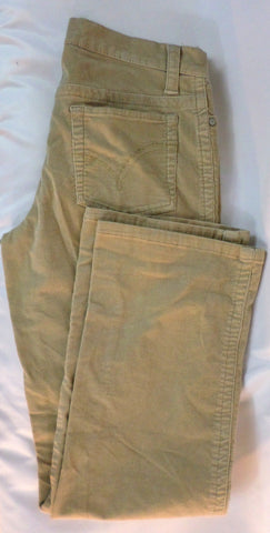Faded Glory Stretch Fit Tan Cordoroy Jeans Missy Size 10 Broken In