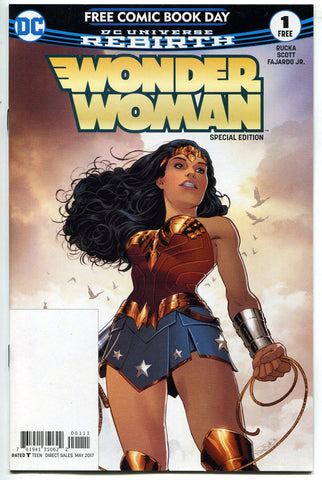 FCBD 2017 DC Comics Wonder Woman #1 Rebirth UNSTAMPED Variant NM