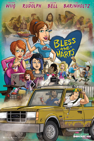 "Bless the Harts SDCC 2019 Exclusive 11"" x 17"" Promo Poster Fox TV Kristen Wiig"