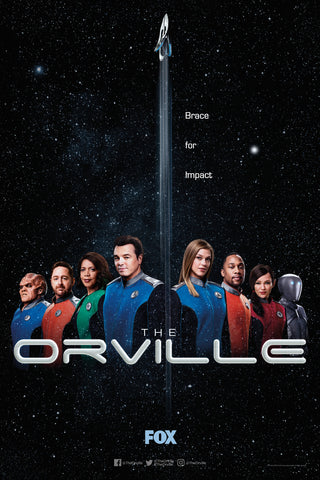 "The Orville SDCC 2019 Exclusive 11"" x 17"" Promo Poster Fox TV Seth McFarlane"