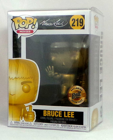Funko POP! Bait Gold Bruce Lee SDCC 2018 Exclusive figure Comic Con w/protector