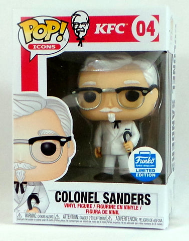 Funko Pop! Ad Icons KFC Colonel Sanders w/cane #04 Shop Exclusive Figure