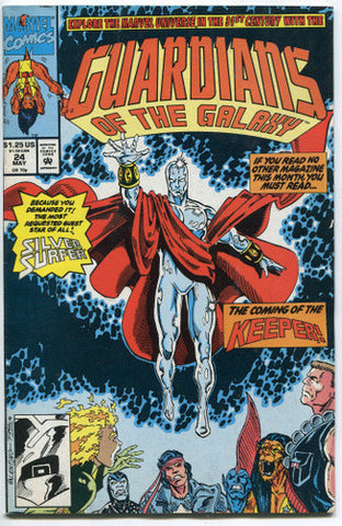 Guardians of the Galaxy #24 VF Marvel Comics 1992 Silver Surfer - redrum comics