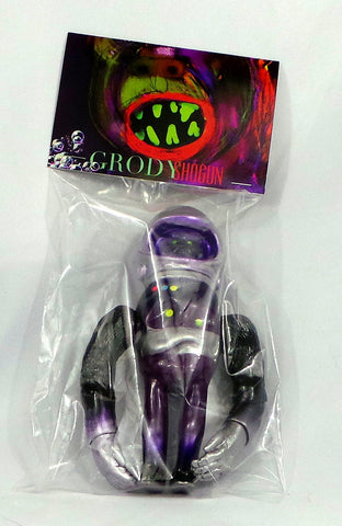 Grody Shogun Purple Spaceman LuluBell Sofubi Vinyl Figure Secret Base Japan - redrum comics