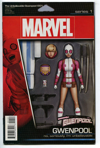 Unbelievable Gwenpool #1 Christopher Action Figure Variant Cover VF Marvel