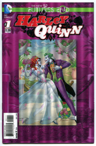 Harley Quinn #1 3D Lenticular Cover DC Suicide Squad Futures End New 52 Joker - redrum comics