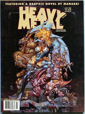 Heavy Metal July 1998 Magazine Simon Bizley Milo Manara