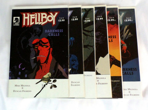 Hellboy Darkness Calls #1-6 full complete set Mike Mignola 2007 - redrum comics