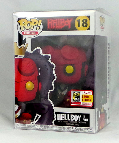 Funko POP Hellboy in Suit SDCC 2018 Exclusive Figure w/Official LE sticker AS IS - redrum comics