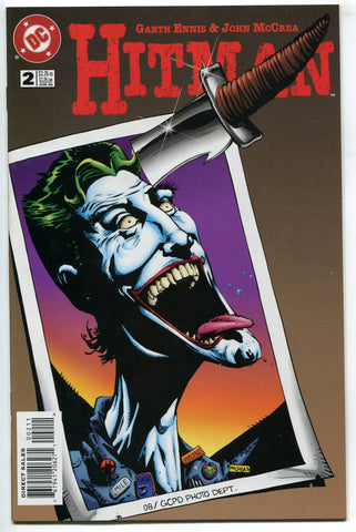Hitman #2 NM Garth Ennis John McCrea 1996 DC Comics Joker Cover