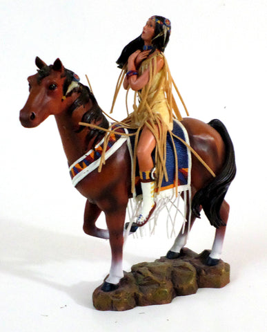 Sisters in Spirit Collection Great Spirit Ashton Drake Galleries Woman w/Horse