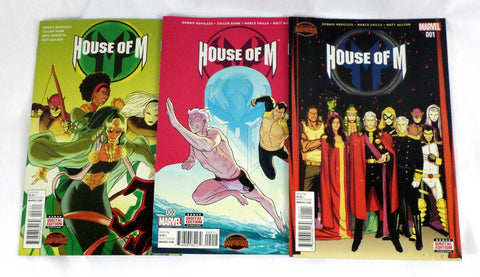 Marvel Comics House of M #1 2 3 Set Lot Secret Wars X-Men Magneto Wolverine - redrum comics
