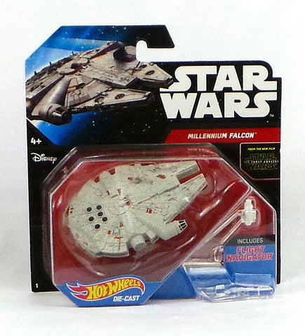 Disney Hot Wheels Die-Cast Star Wars Force Awakens Starship Millennium Falcon