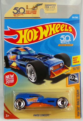 2018 Hot Wheels 50TH ANNIVERSARY RACE TEAM HW50 CONCEPT #361/365