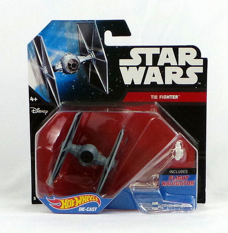 Disney Hot Wheels Die-Cast Star Wars Force Awakens Starship TIE Fighter - redrum comics