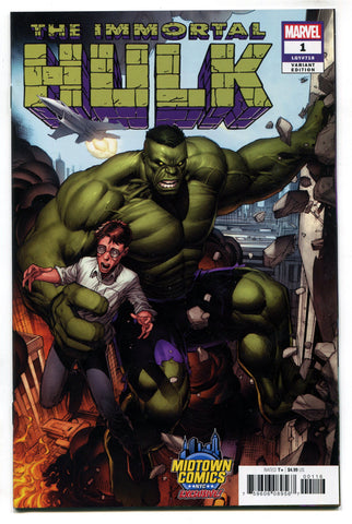 27ed49e45d71b0 Immortal Hulk  1 Midtown Exclusive Dale Keown Variant Cover NM