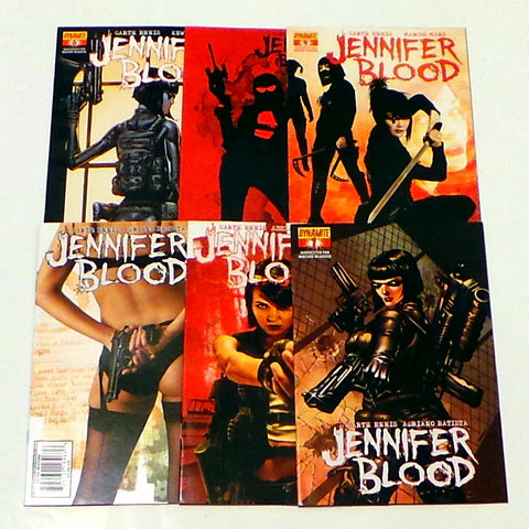 Jennifer Blood 1 2 3 4 5 6 set run lot 1st Print Garth Ennis Dynamite Comics