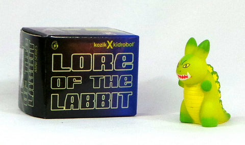 "Kidrobot Kozik Lore of the Labbit 1.5"" Mini Green Kaiju Blind Box Figure"