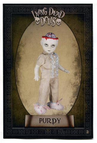 Living Dead Dolls Resurrection X Riddle Card #3 Purdy - redrum comics