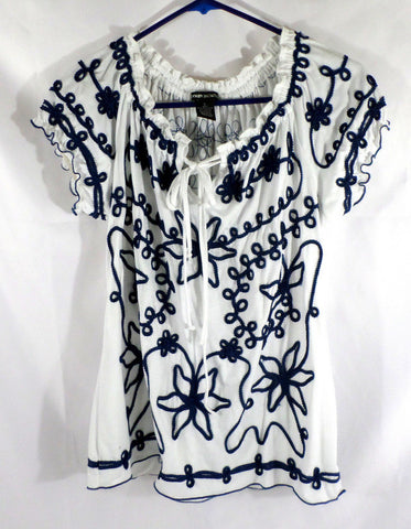 Lauren Michelle Peasant Style Girl's Top Size Large
