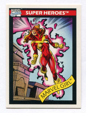 1990 Marvel Universe Series 1 Impel Marvel Girl #9 Jean Grey X-Factor