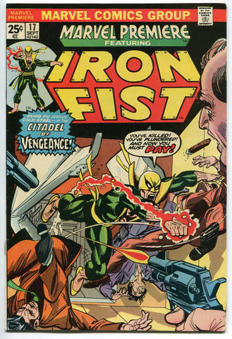 Marvel Premiere #17 featuring Iron Fist VF Very Fine 3rd Iron Fist Netflix